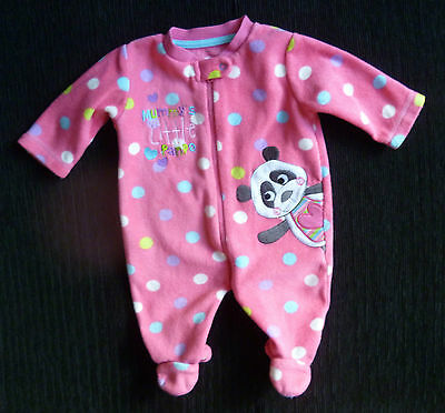 Baby clothes GIRL 0-3m George pink zip fun panda sleepsuit/all-in-one SEE SHOP!
