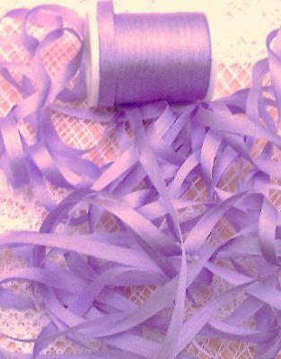 EMBROIDERY RIBBON 100%SILK 4MM  10 yd CARD~ORCHID~COLOR