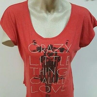 New: QUEEN - Crazy Little Thing Called Love Juniors (Red) Rock Concert T-Shirt