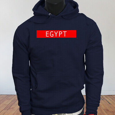 Spooky Egyptian Ancient Worship Cats Egypt Pyramid Mummy  Mens Navy Hoodie