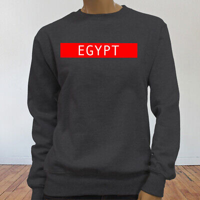 Spooky Egyptian Ancient Cats Egypt Pyramid Mummy  Womens Charcoal Sweatshirt