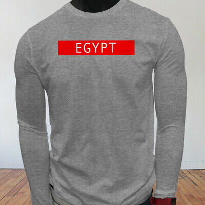 Spooky Egyptian Ancient Egypt Pyramid Mummy  Mens Gray Long Sleeve T-Shirt