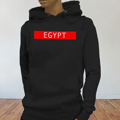 Spooky Egyptian Ancient Cats Egypt Pyramid Mummy  Womens Black Hoodie
