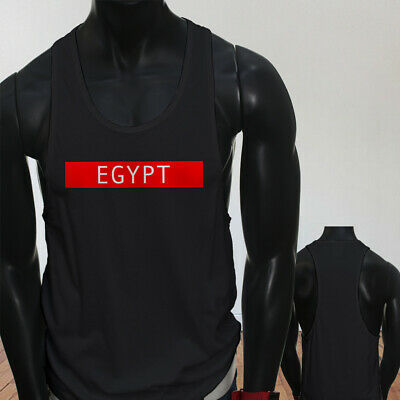 Spooky Egyptian Ancient Egypt Pyramid Mummy  Mens Black Sports Tank Top