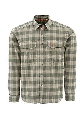 Simms COLDWEATHER Shirt ~ Olive Plaid NEW ~ Size Medium ~ Closeout