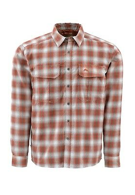 Simms COLDWEATHER Shirt ~ Boulder Plaid NEW ~ Size Large ~ Closeout
