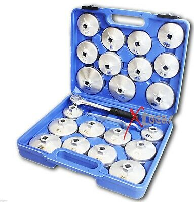 "23 Pc 1/2"" DR Aluminum Alloy Cup Type Oil Filter Cap Wrench Socket Removal Set"