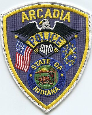 ARCADIA INDIANA IN state flag POLICE PATCH