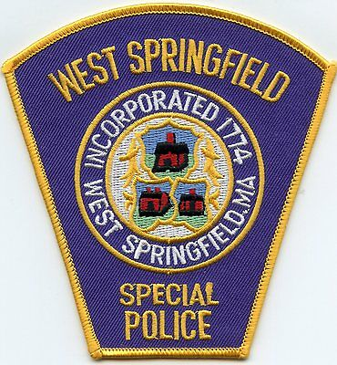 West Springfield Massachusetts Ma Special Police Patch