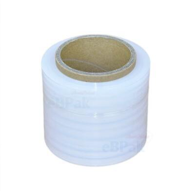 4 x Rolls CLEAR 100mm x 250m Meter 20um - Hand Use Stretch Bundling Film