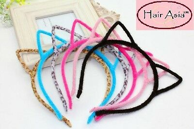 Fuzzy cat ear headband by HAIR ASIA - 12 colors to choose from - ships from USA