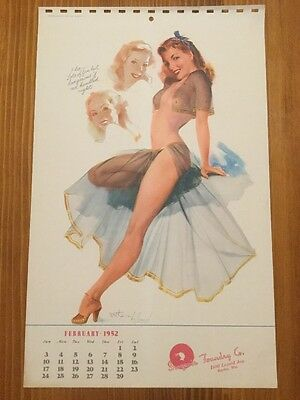 """ORIGINAL February 1952 Withers 9""""x15"""" Pinup MINT """"Iroquois Foundry Co."""""""