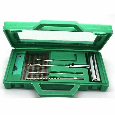 Steel Tire Repair Tool Tubeless Tire Tyre Puncture Plug Repair Kit
