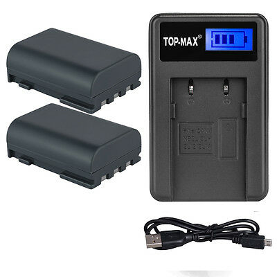 2x Battery NB-2L NB 2LH + Charger - for Canon EOS 350D 400D G7 G9 S30 S40 UK