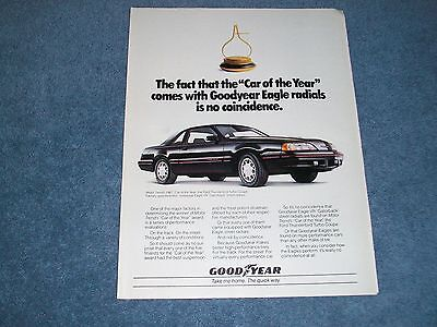 1987 Goodyear Eagle Tires Ford Thunderbird Turbo Coupe Ad