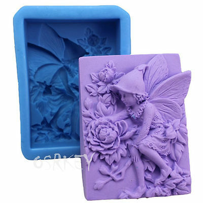 Angel Flower S085 Silicone Soap mold Craft Molds DIY Handmade soap mould