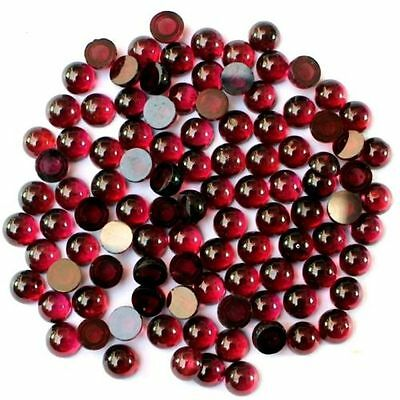 98 Ct.aaa Quality 220 Pc Natural Garnet Plain Round 4X4 Mm Loose Gemstone