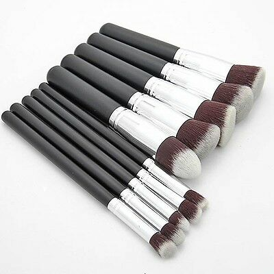 10 tlg Lidschatten Pinsel Set Make up Professionelle Kosmetik Schminkpinsel Set