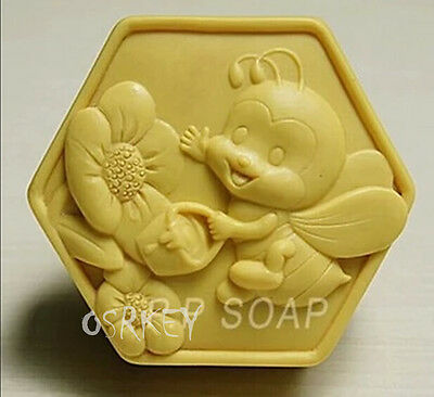 Bees and Flowers S337 Silicone Soap molds Craft Molds DIY Handmade soap mould