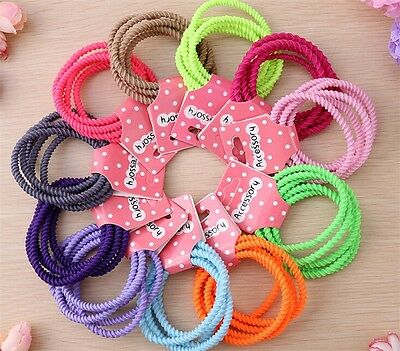 10pcs Fashion Candy Color Hairband Elastic Hair Rope Women Girl Ponytail Holder