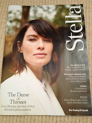 Lena Headey Brand New Stella Uk Photo Cover Magazine 2014 - Anzhelina Zasadska