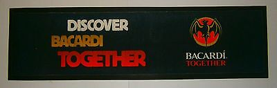 Bacardi Rum rubber backed pub drink mat runner for home bar or collector