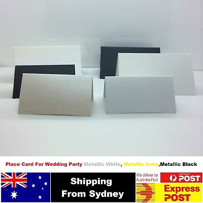 10-100 DIY Blank Place Card For Wedding Party,White, ivory,Black. Two Sizes
