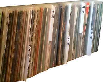 """26 x White 12"""" inch Vinyl LP Album A - Z Record Collection Tabbed Dividers"""