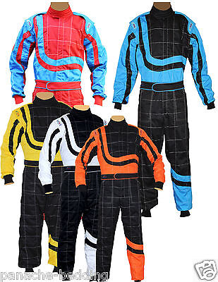 New Karting/Race/Rally One Piece Adult Suits Poly Cotton 8 Brilliant Colors