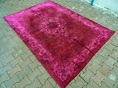 "Overdyed Rug 5'8"" x 8'3"" Turkish Overdyed Rug Decorative Overdyed Rug Boho Rug"