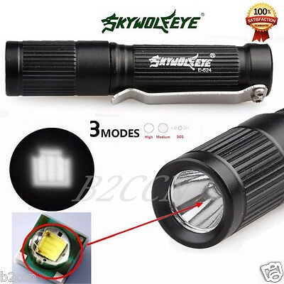 Mini 3500/3000LM Zoomable CREE Q5 LED Flashlight 3 Mode Torch Bright Light Lamp
