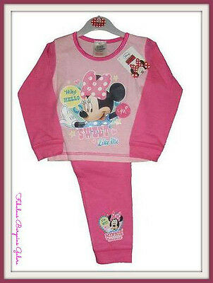 Baby Girls Toddler Official Disney Minnie Mouse Kids Chiildren Pyjamas Nightwear