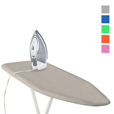 """1 Deluxe Ironing Board Cover Pad Scorch Heat Resistant Coated  54"""" Ast Color New"""
