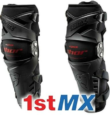 THOR Force Adult Knee Guards MX Motocross Protection S/M Small/Medium - PAIR