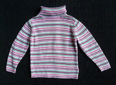 Baby clothes GIRL 18-24m polo-neck sweater striped pink George COMBINE POSTAGE!