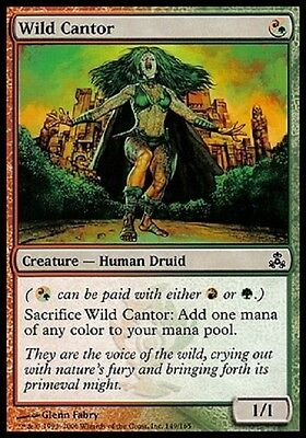 Magic 4X Cantastorie Selvaggia - Wild Cantor Common Multicolor Guildpact Gpt Mtg