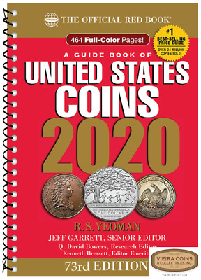 24 x 2019 RED BOOK ( IN STOCK )  PRICE GUIDE U.S. COINS,SPIRAL