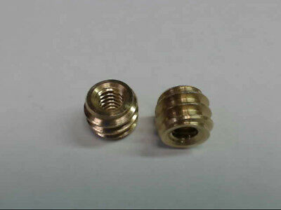 "Brass Insert 1/4-20 Internal Threaded 3/8"" Tall Pack of 10 *New & Free Shipping*"
