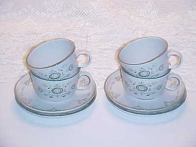 Franciscan China Heritage Pattern Cup and Saucer Sets