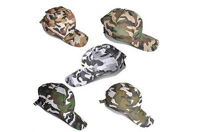 Camouflage Baseball Cap Adjustable Camo Fishing Hunting Army 5 Styles Free Post