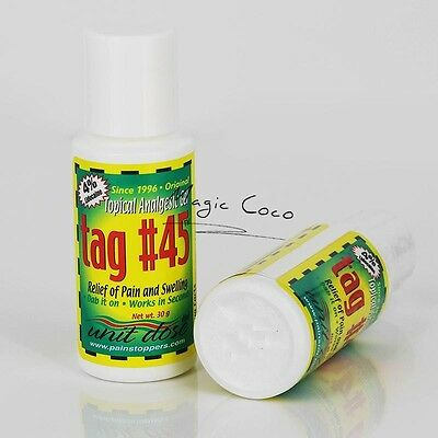 TAG #45 Topical Anesthetic Gel Numbing Tattooing Piercing Waxing Electrology NEW