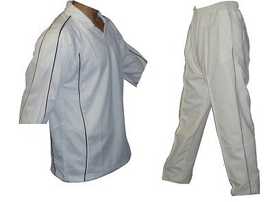 NEW HIGH QUALITY CRICKET KIT WITH TROUSER SHIRT White Clothing
