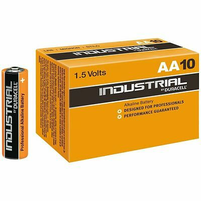 10 x Duracell Industrial AA Batteries Alkaline 1.5V LR6 MN1500 Procell Battery