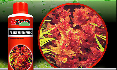 AZOO PLANT NUTRIENTS*For aquatic plants, reef aquariums and ponds *120,250,500ml