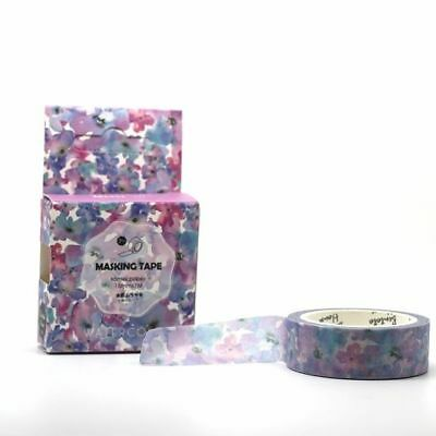 Washi Tape -  Watercolour Pansies Spring Floral Violet Pink Purple 15mm x 7m