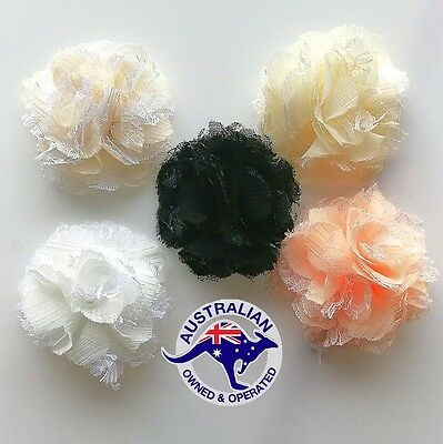 Lace ( silk) Flower For Embellishments Or  invitation  85-90mm