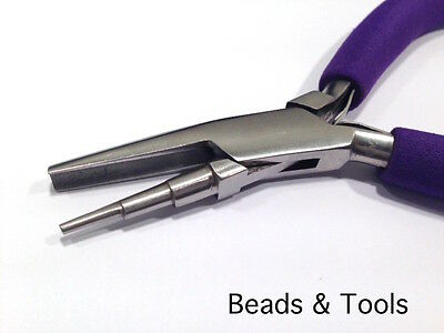 3-STEP ROUND NOSE PLIERS - For serious designers Jewellery Tools - BEADS & TOOLS