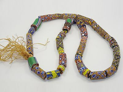 """Fantastic Chunky Vintage Tribal African Trade Bead Necklace ~ 30"""""""