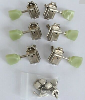 New Guitar Parts Kluson Vintage Style 3L3R Tuners - Chrome