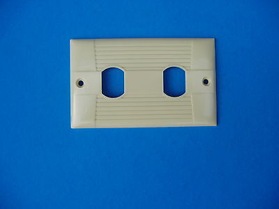 Eagle 952V Vintage wall toggle plate for two interchange devices - ivory